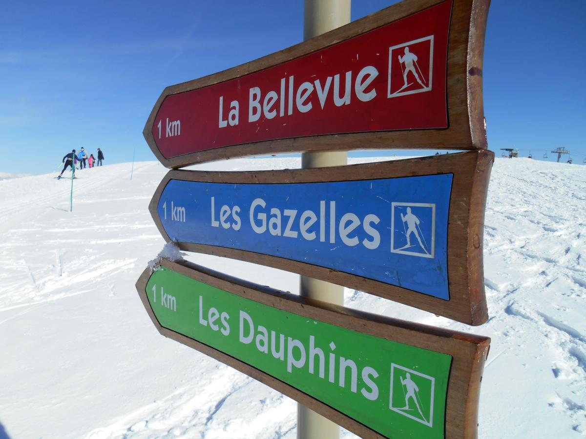 La couleur des pistes de ski