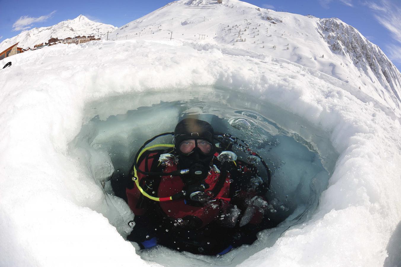 La Plongée sous glace à Tignes