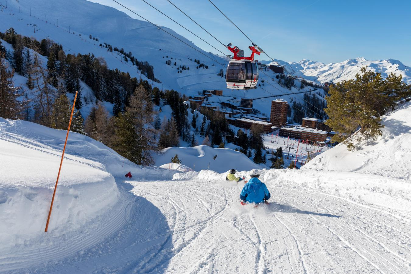 Paradiski, un domaine skiable familial