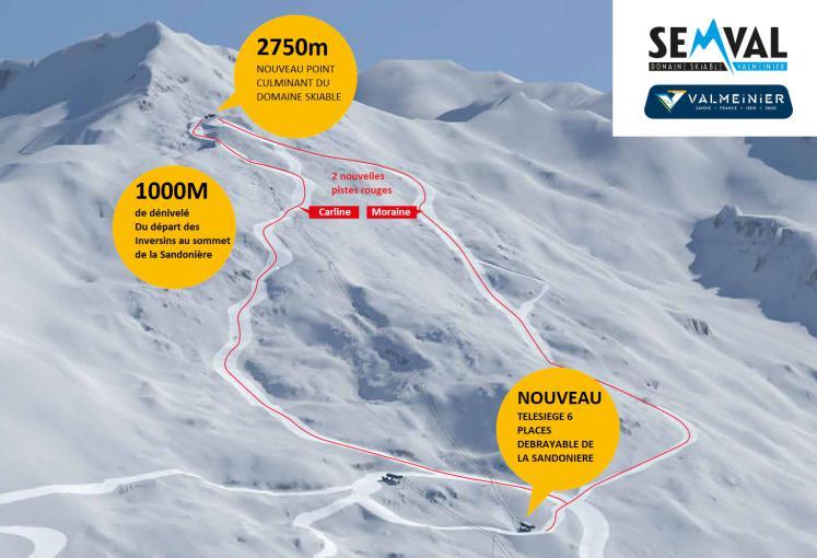 Extension du domaine skiable de Valmeinier