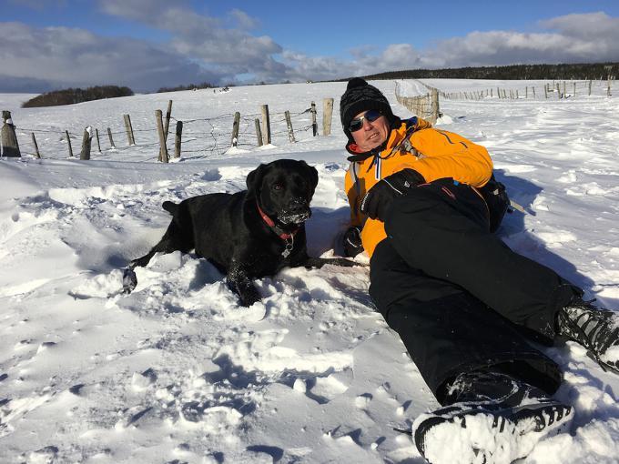 J'emmène mon chien aux sports d'hiver