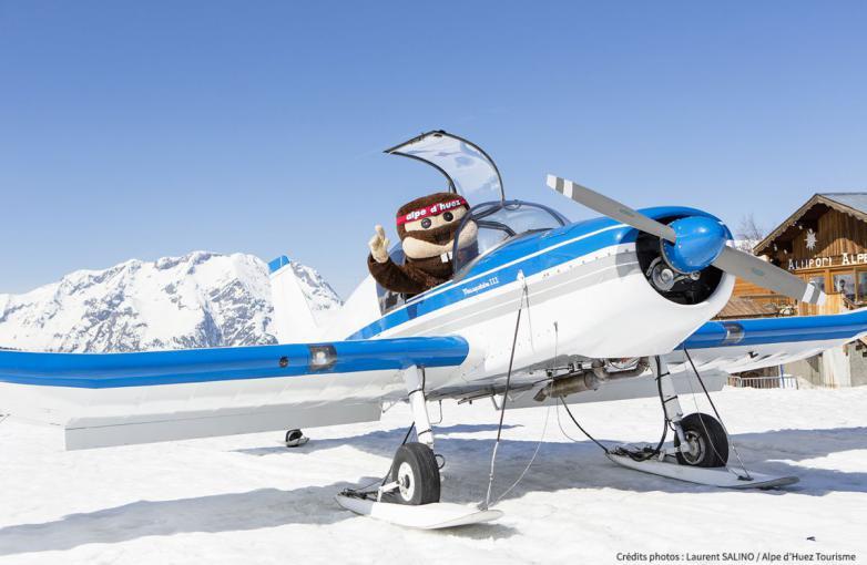 La mascotte, la star des stations de ski