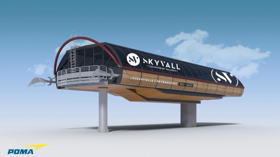 Nouvelle télécabine reliant Loudenvielle à Peyragudes