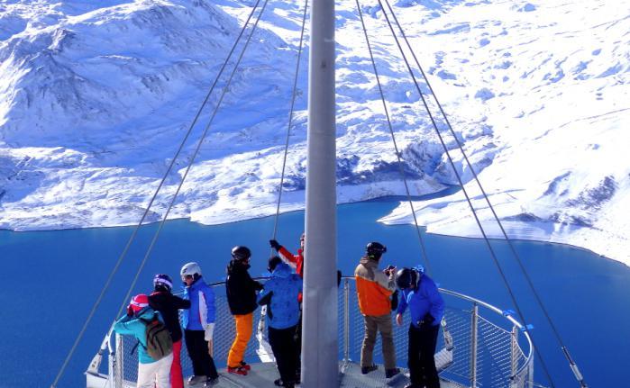 Plateforme panoramique à Val Cenis