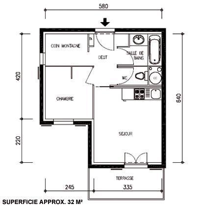 Plan appartement 2 pieces - Appartement de vacances styleshous design ...