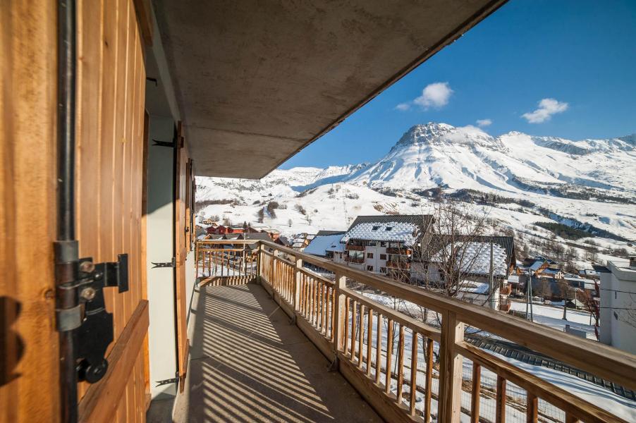Аренда на лыжном курорте Les Chalets du Hameau des Aiguilles - Albiez Montrond - Балкон