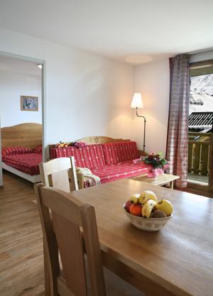 Location au ski Appartement 3 pièces coin montagne 6-8 personnes - Les Chalets Du Hameau Des Aiguilles - Albiez Montrond - Coin repas