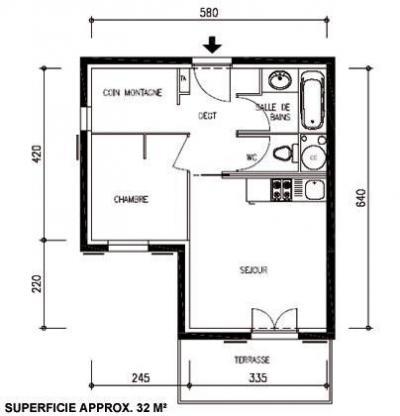 Location au ski Appartement 2 pièces 4-6 personnes - Les Chalets Du Hameau Des Aiguilles - Albiez Montrond - Plan