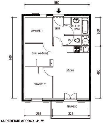 Location au ski Appartement 3 pièces coin montagne 6-8 personnes - Les Chalets Du Hameau Des Aiguilles - Albiez Montrond - Plan