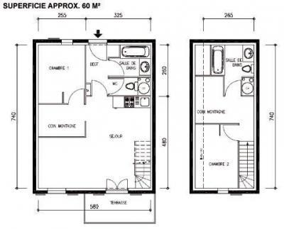 Location au ski Appartement duplex 3 pièces 8-10 personnes - Les Chalets Du Hameau Des Aiguilles - Albiez Montrond - Plan