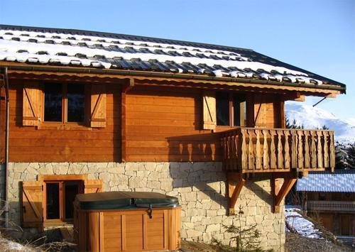 Location au ski Chalet 7 pièces 14 personnes - Chalet Les Sapins - Alpe d'Huez - Extérieur hiver