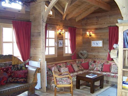 Location au ski Chalet duplex 7 pièces 12 personnes - Chalet Melusine - Alpe d'Huez - Coin séjour