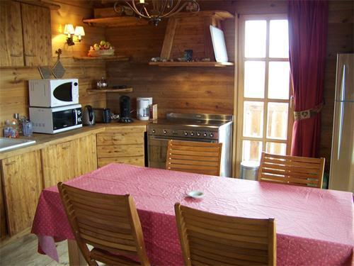 Location au ski Chalet duplex 7 pièces 12 personnes - Chalet Melusine - Alpe d'Huez - Cuisine ouverte