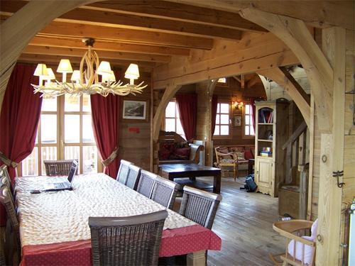 Location au ski Chalet duplex 7 pièces 12 personnes - Chalet Melusine - Alpe d'Huez - Table