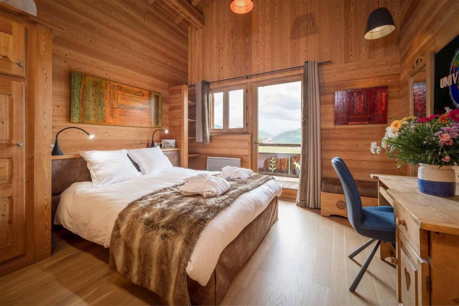 Аренда на лыжном курорте Chalet Bouquetin - Alpe d'Huez - Двухспальная кровать