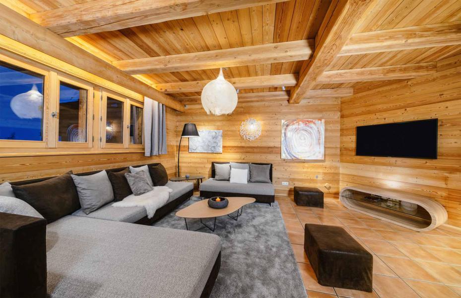 Аренда на лыжном курорте Chalet Bouquetin - Alpe d'Huez - Салон