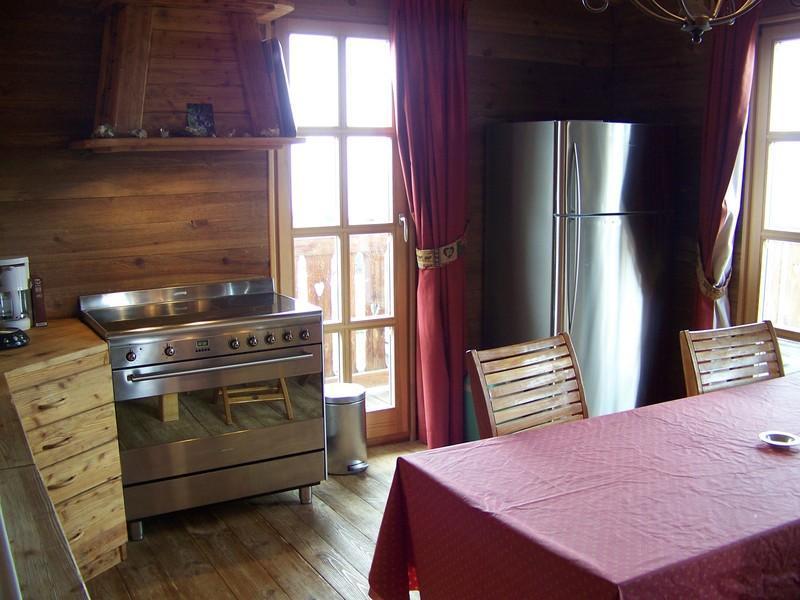Location au ski Chalet Mélusine - Alpe d'Huez - Cuisine ouverte