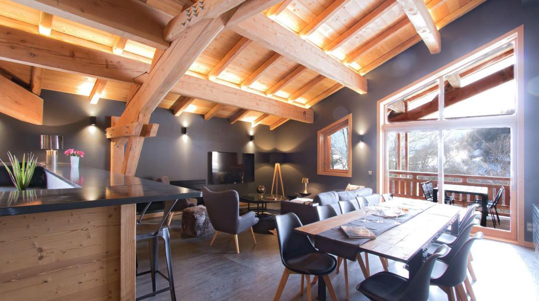 Location au ski Chalet Nuance de Bleu - Alpe d'Huez - Salle à manger