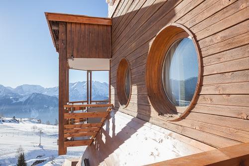 Urlaub in den Bergen Hôtel Royal Ours Blanc - Alpe d'Huez - Draußen im Winter