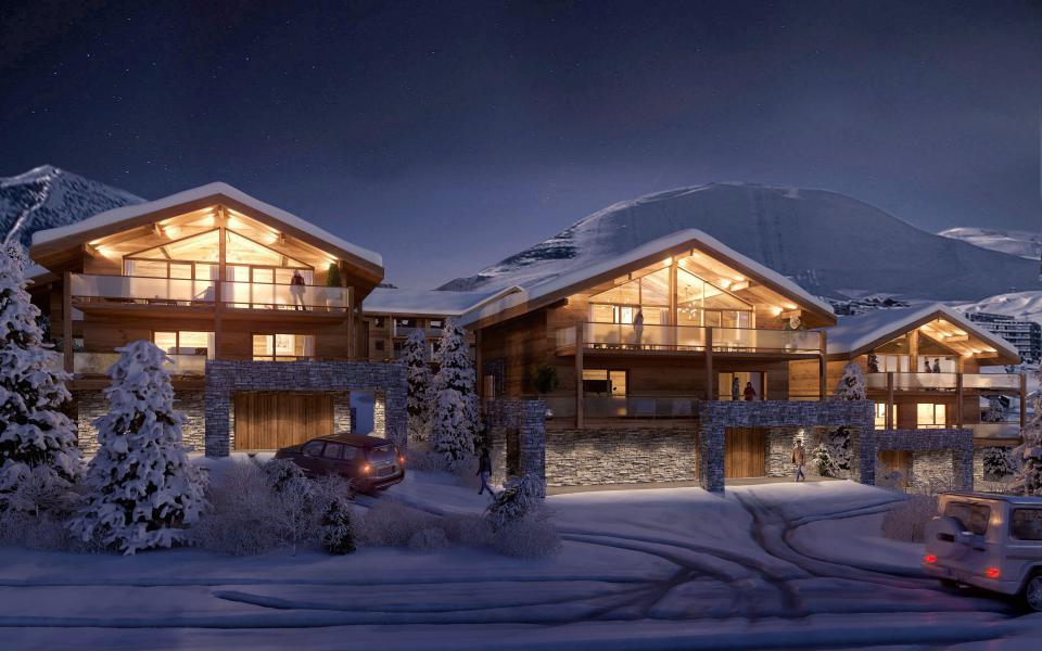 Vacances en montagne Les Chalets du Daria - Alpe d'Huez - Extérieur hiver