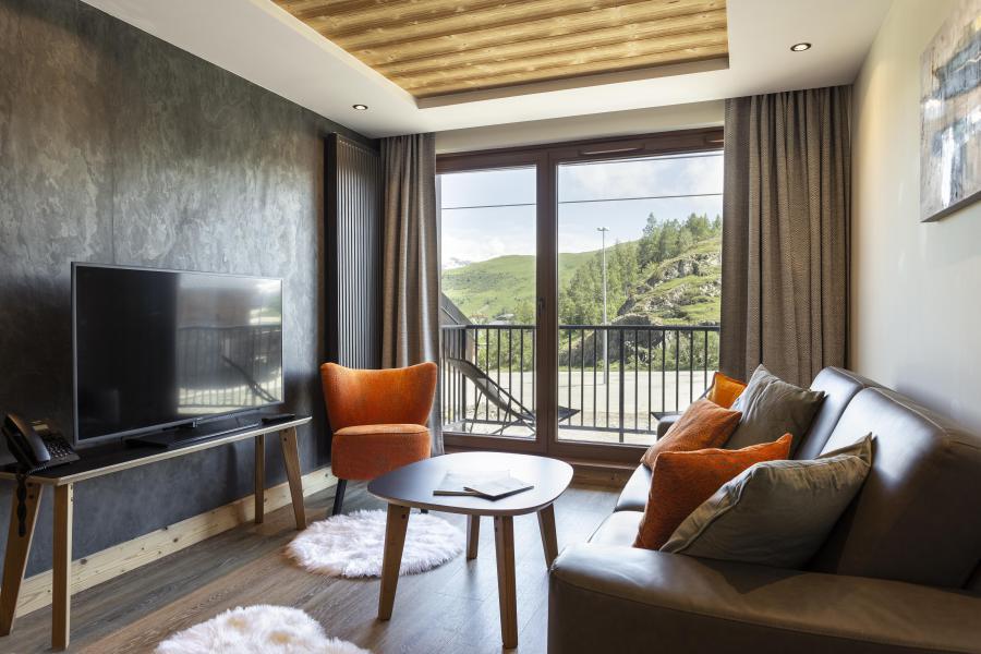 Skiverleih Résidence Chalet des Neiges Daria-I Nor - Alpe d'Huez - Kleines Wohnzimmer