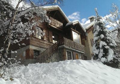 Location au ski Chalet Alpenvue - Alpe d'Huez - Extérieur hiver