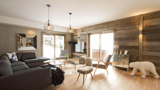 Rent in ski resort Chalet Nuance de Blanc - Alpe d'Huez - Living area