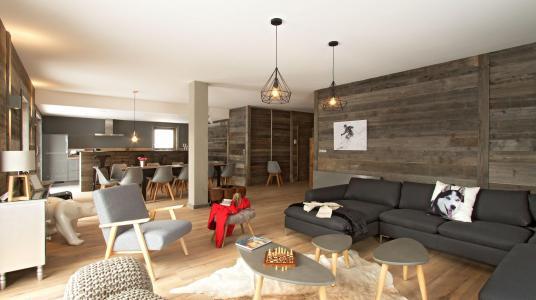 Rent in ski resort Chalet Nuance de Blanc - Alpe d'Huez - Living room