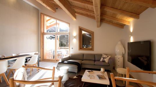 Rent in ski resort Chalet Nuance de Gris - Alpe d'Huez - Living room