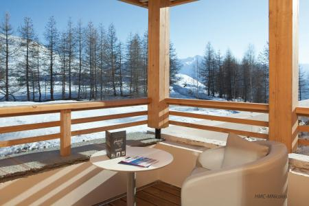 Rent in ski resort L'Alpenrose Lagrange - Alpe d'Huez - Balcony