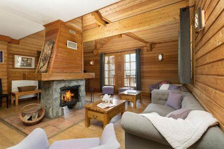 Rent in ski resort Les Chalets de l'Altiport - Alpe d'Huez - Living room