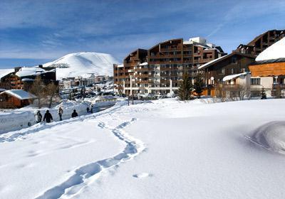 Location au ski Residence Le Christiania - Alpe d'Huez - Extérieur hiver