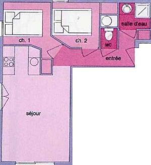 Location au ski Appartement 3 pièces 6 personnes (01) - Residence Les Grangettes - Arêches-Beaufort - Plan