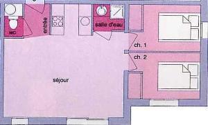 Location au ski Appartement 3 pièces 6 personnes (03) - Residence Les Grangettes - Arêches-Beaufort - Plan