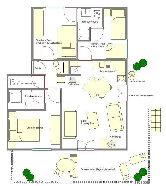 Аренда на лыжном курорте Апартаменты 4 комнат 6 чел. (ALI01) - Chalet Roche Plane - Arêches-Beaufort