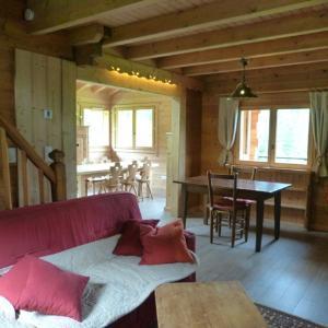 Location au ski Chalet 5 pièces 8 personnes (81) - Chalet Le Bois - Arêches-Beaufort - Séjour
