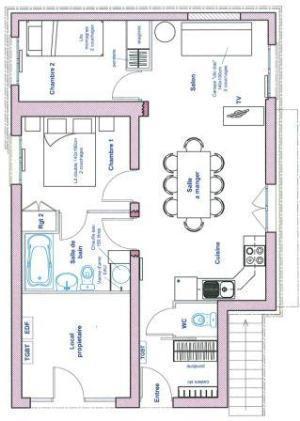 Location au ski Appartement 3 pièces 6 personnes (79) - Chalet Le Bois - Arêches - Plan