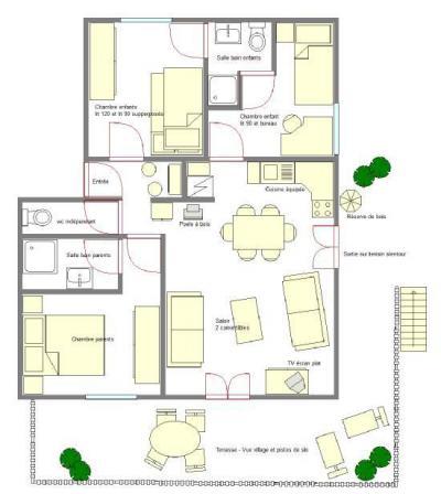 Location au ski Appartement 4 pièces 6 personnes (ALI01) - Chalet Roche Plane - Arêches-Beaufort