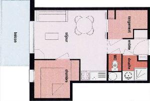 Location au ski Appartement 2 pièces coin montagne 4 personnes (132) - Les Chalets De La Cascade - Arêches - Plan