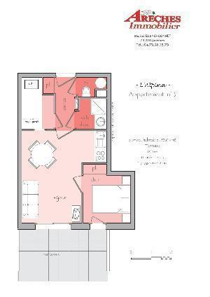 Location au ski Appartement 2 pièces coin montagne 4 personnes (3) - Residence Alpina - Arêches-Beaufort - Plan