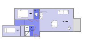 Location au ski Appartement 3 pièces 5 personnes (212) - Residence L'oree De La Combe - Arêches - Plan