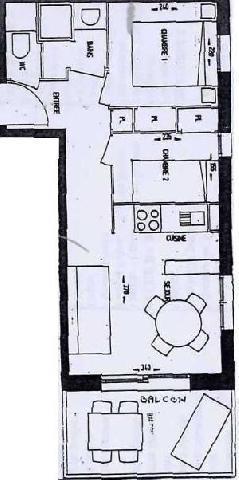 Location au ski Appartement 3 pièces 4 personnes (04) - Residence La Merande - Arêches - Plan
