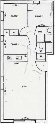 Location au ski Appartement 4 pièces 6 personnes (05) - Residence La Merande - Arêches - Plan
