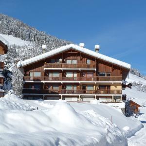 Location au ski Studio cabine 4 personnes (63) - Residence Le Bellecote - Arêches - Extérieur hiver