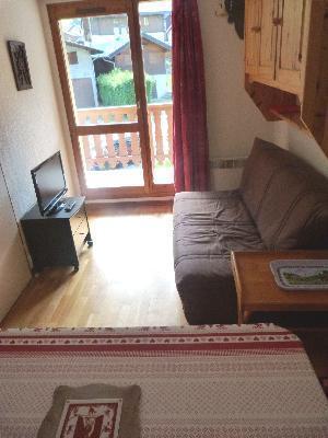 Location au ski Appartement 2 pièces coin montagne 4 personnes - Residence Le Val Blanc - Arêches - Porte-fenêtre donnant sur balcon