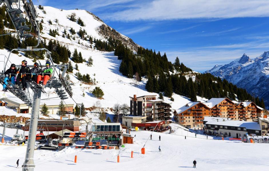 Location au ski Résidence les Balcons d'Auréa - Auris en Oisans - Extérieur hiver