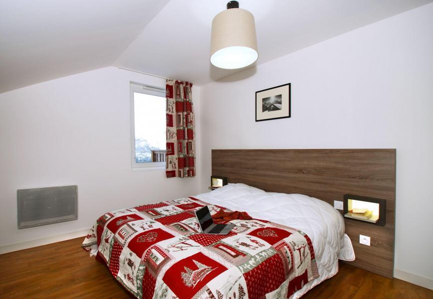 Аренда на лыжном курорте Résidence les Balcons d'Auréa - Auris en Oisans - Двухспальная кровать