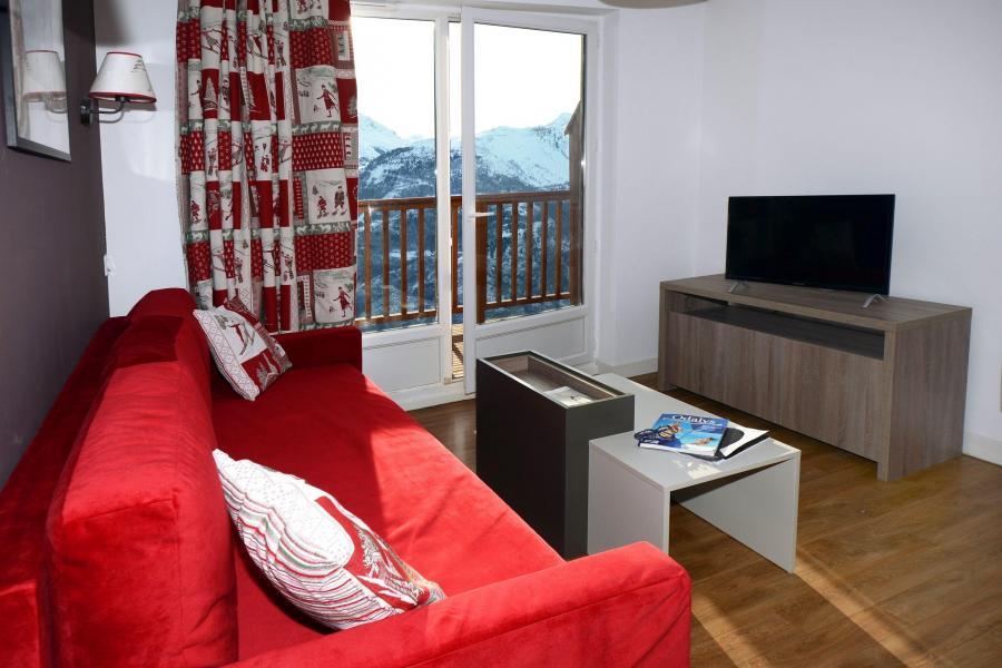 Location au ski Résidence les Balcons d'Auréa - Auris en Oisans - Séjour