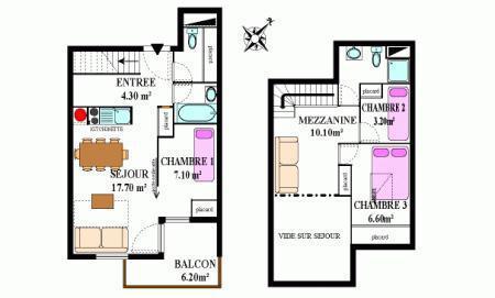 Location au ski Appartement duplex 4 pièces 8 personnes (333) - Residence La Combe Ii - Aussois