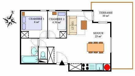 Location au ski Appartement 2 pièces 4 personnes (439) - Residence La Combe Iii - Aussois